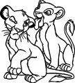 Lion Tongue Kids Coloring Page