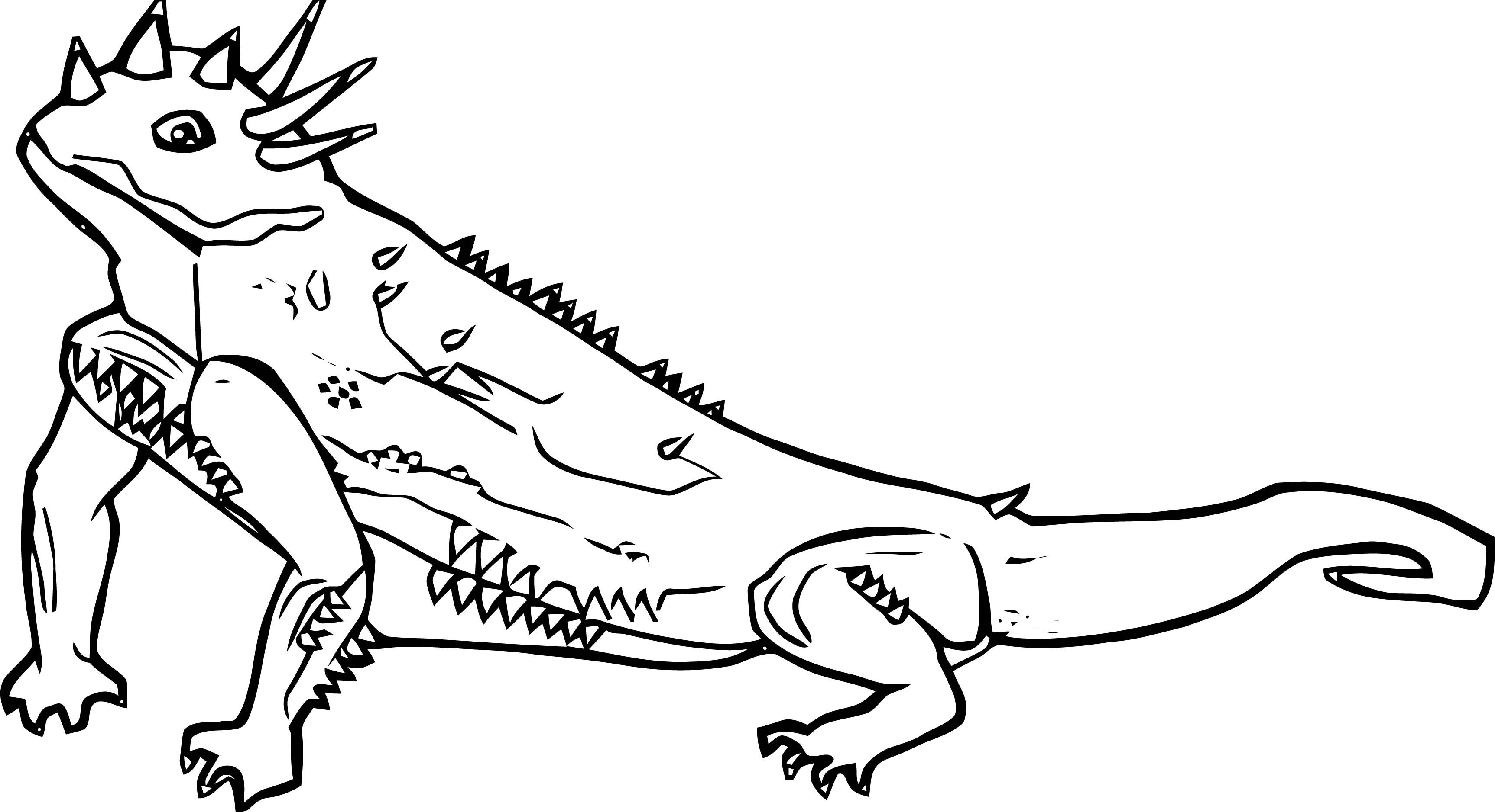 Lizard Coloring Page 28