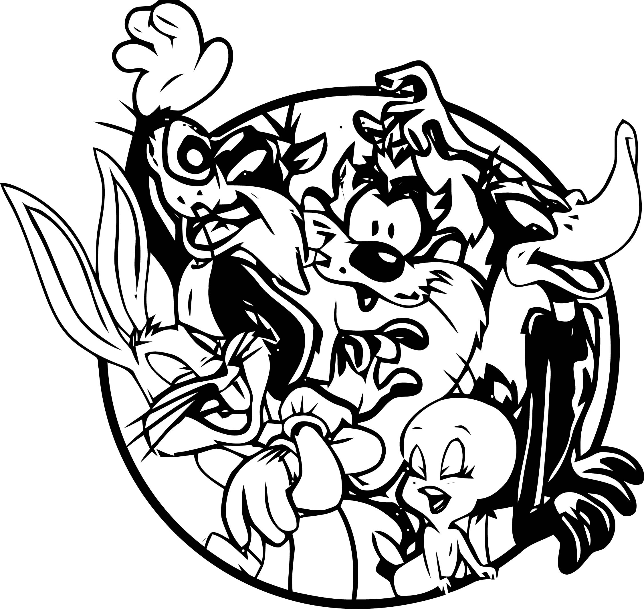 Looney Free Tunes The Looney Tunes Show Coloring Page