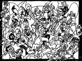 Looney Tunes Crowd The Looney Tunes Show Coloring Page