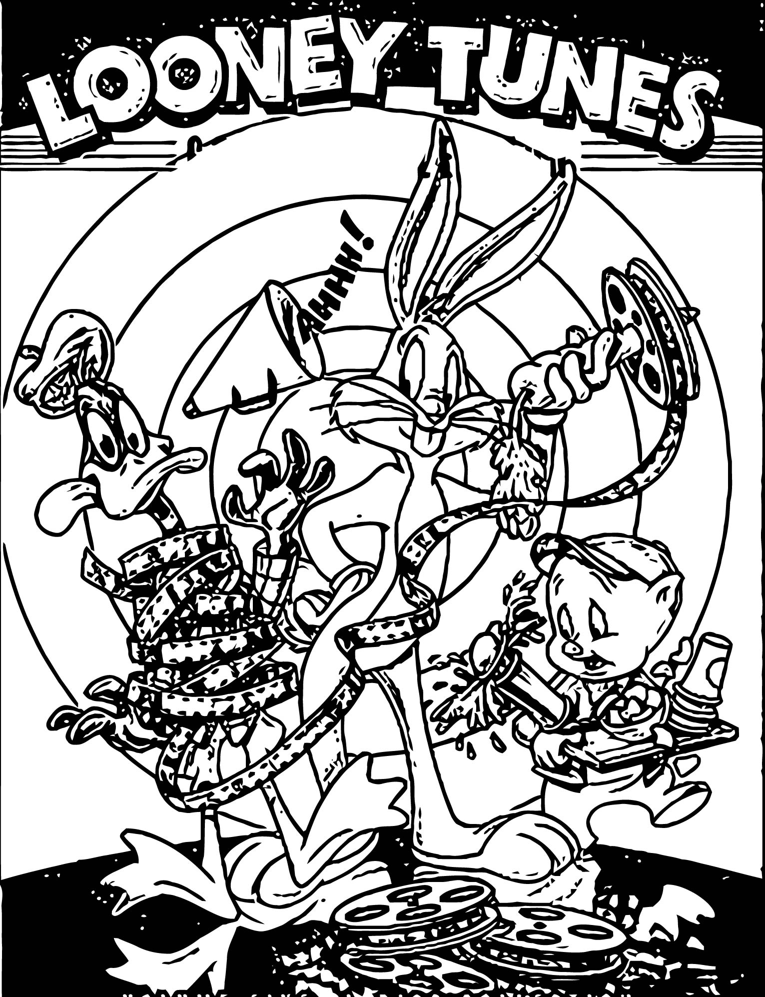 Looney Tunes Golden Collection The Looney Tunes Show Coloring Page