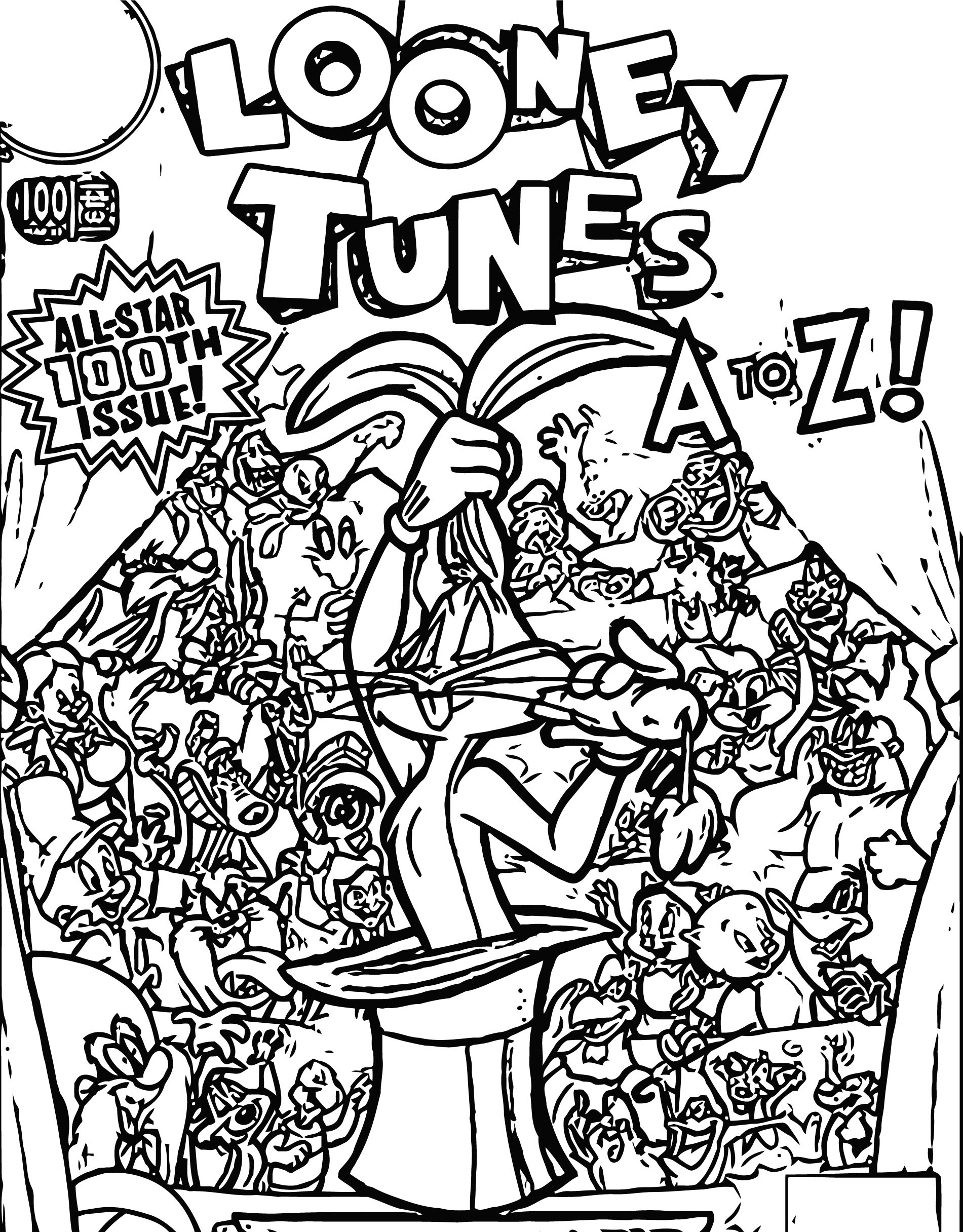 Looney Tunes Vol 1 100 The Looney Tunes Show Coloring Page