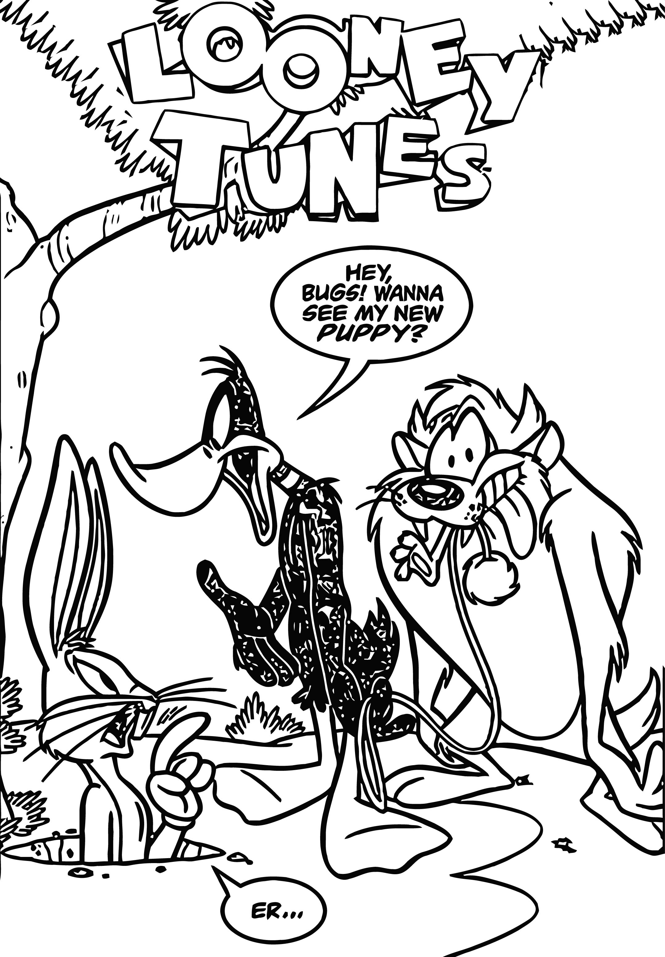 free looney tunes themed coloring pages | Looney Tunes Vol 1 61 The Looney Tunes Show Coloring Page ...