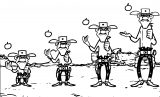 Lucky Luke Daisy Town Daltons Apple Coloring Page