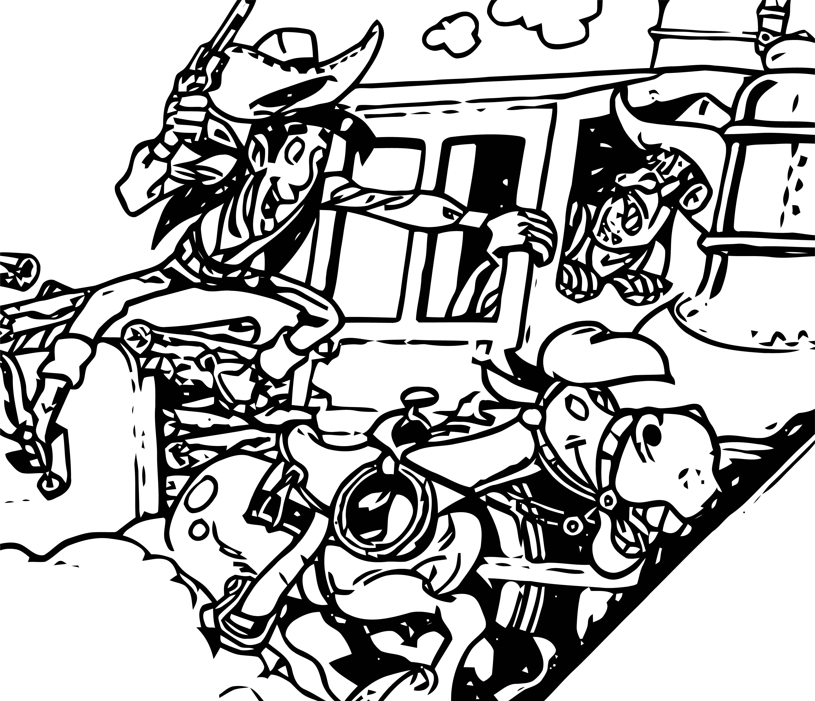 Lucky Luke Desperado Train Europe Coloring Page