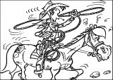 Lucky Luke Horse Rope Coloring Pages