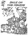 Lucky Luke Rails On Th Praire Coloring Page