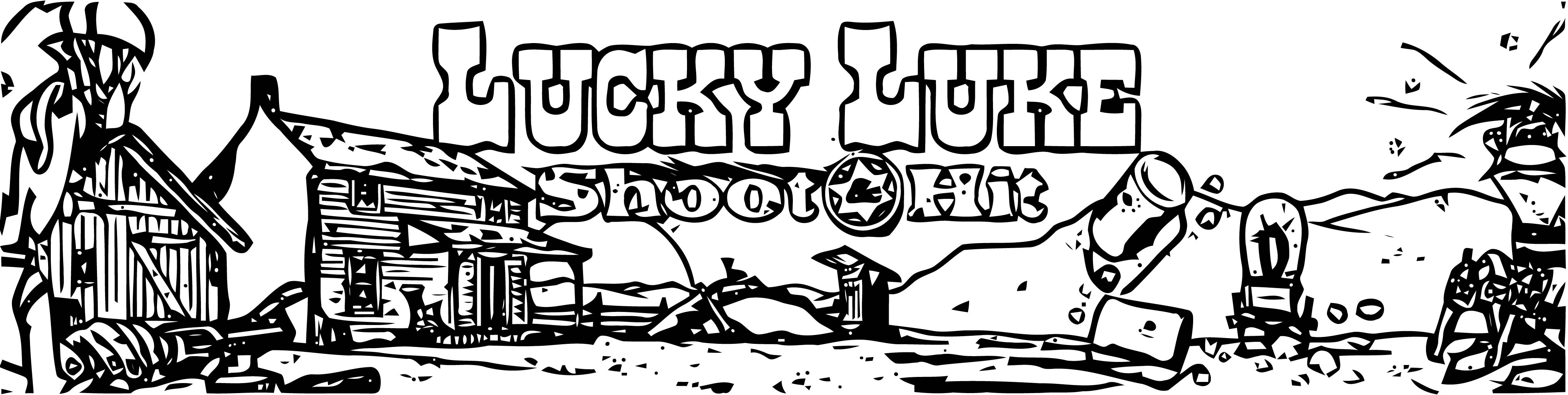 Lucky Luke Shoot Hit Coloring Page