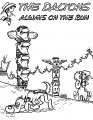 Lucky Luke The Daltons Always Of The Run Coloring Page