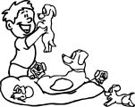 Man And Puppy Dog Coloring Page