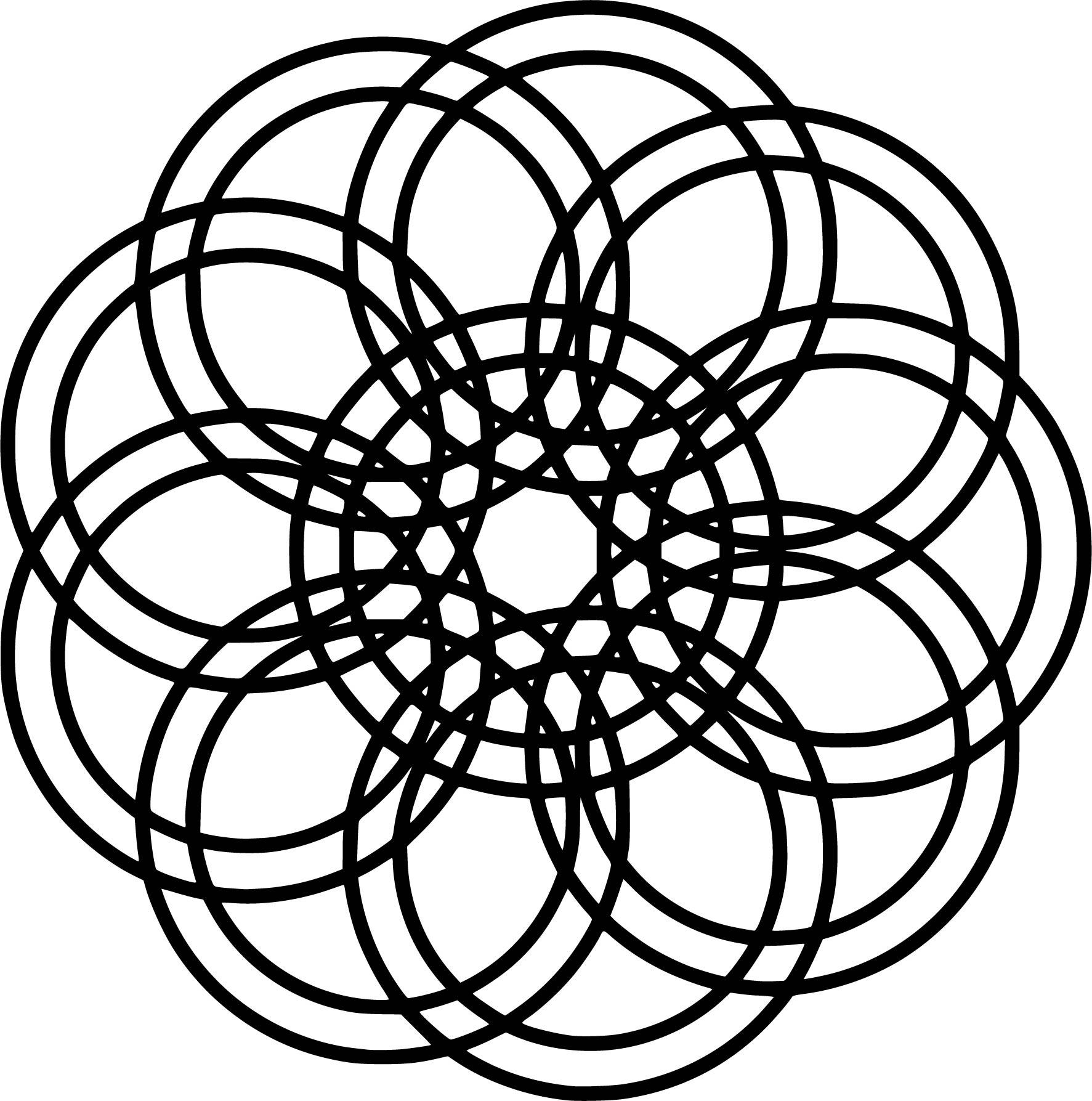 Mandala Coloring Page Shape Circle