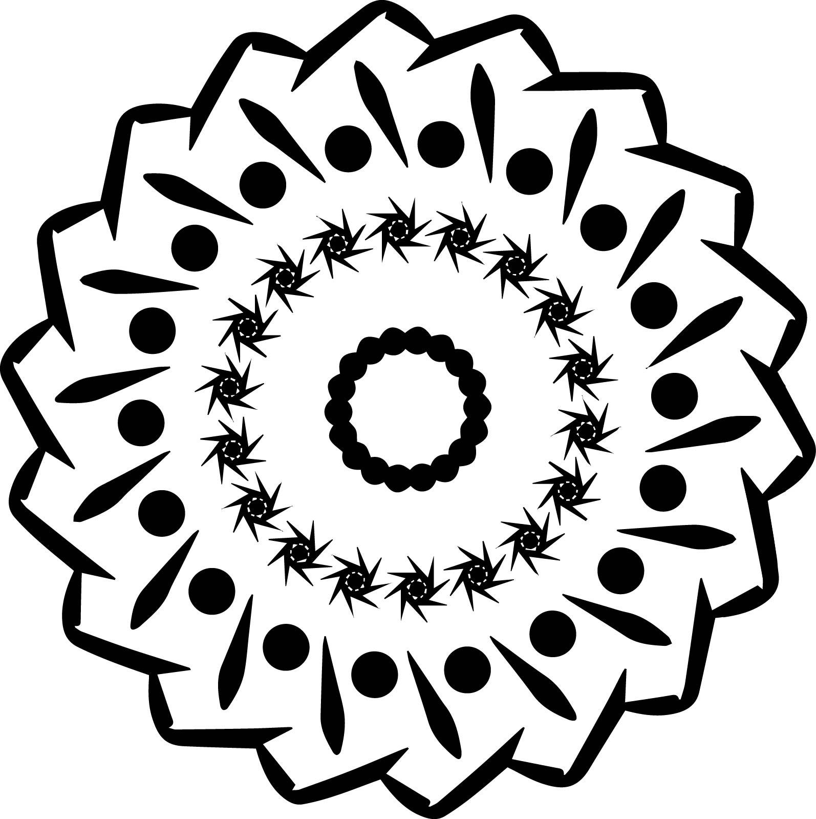 Mandala Dot Star Coloring Page