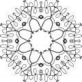 Mandala Hand Drawing Coloring Page