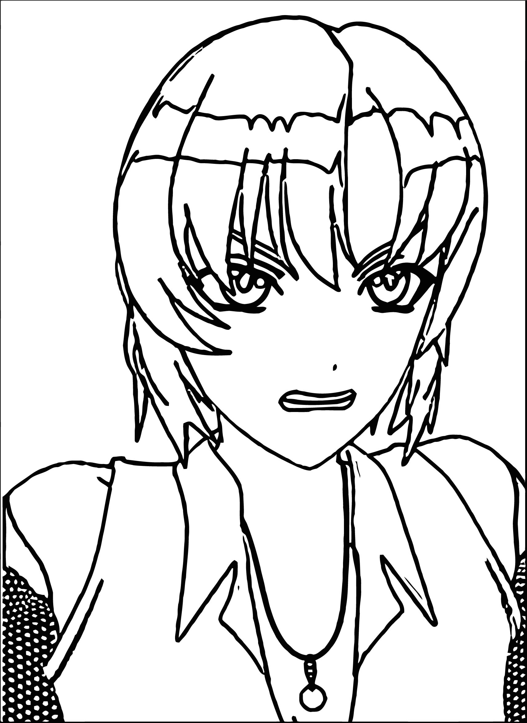 Manga Angry Boy Coloring Page