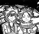 Manga Angry Smile Boys Coloring Page