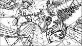 Manga Kick Coloring Page