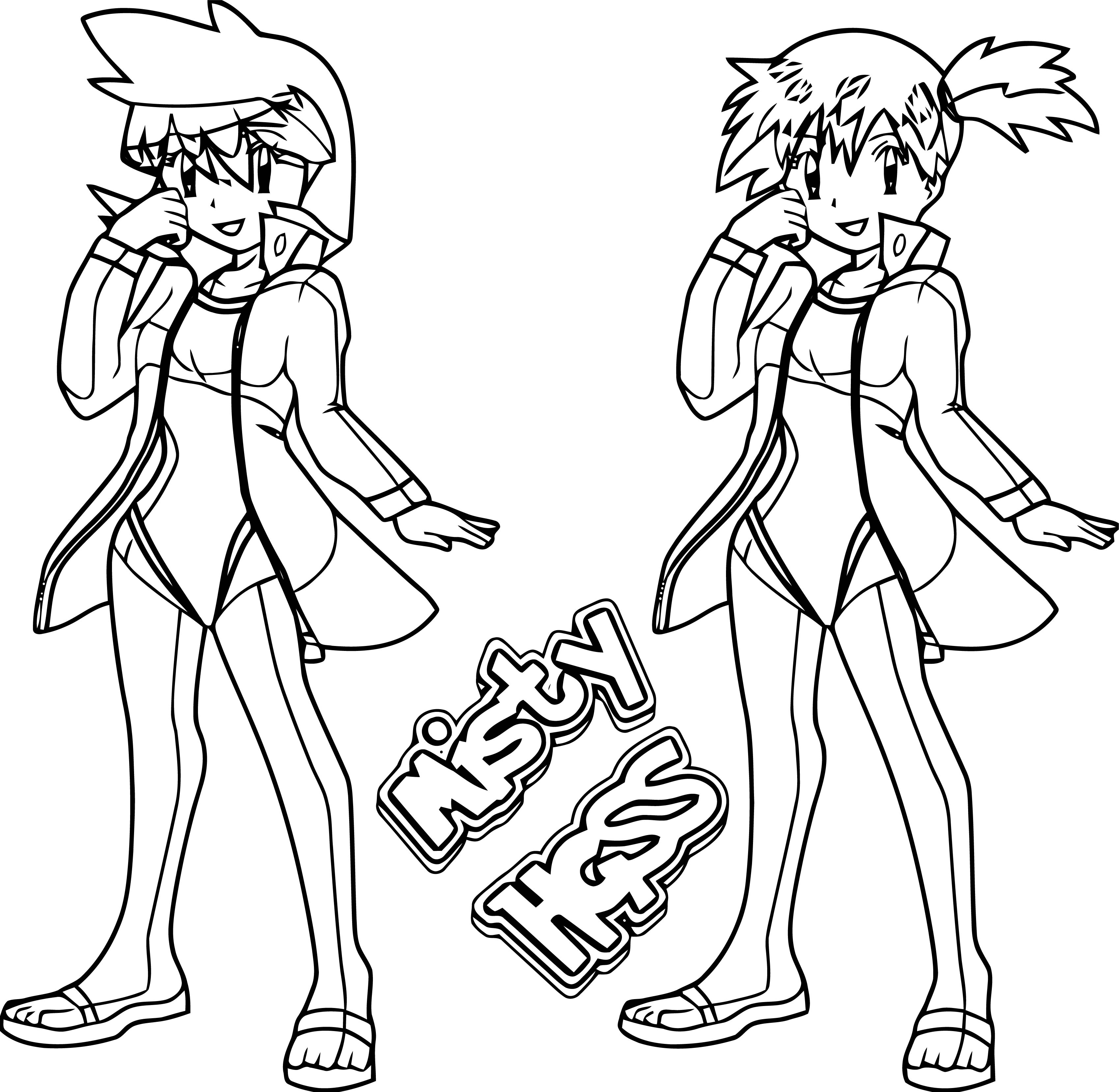 Manga Misty Hgss Girl Coloring Page