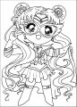 Manga Peace Chibi Girl Coloring Page