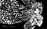 Manga Sad Girl Black Background Coloring Page