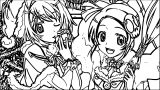 Manga Suprise Girls Coloring Page