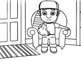 Manny And His Broken Arm Coloring Page