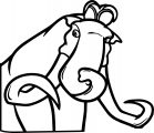 Manny Manny From Ice Age 1 Coloring Page