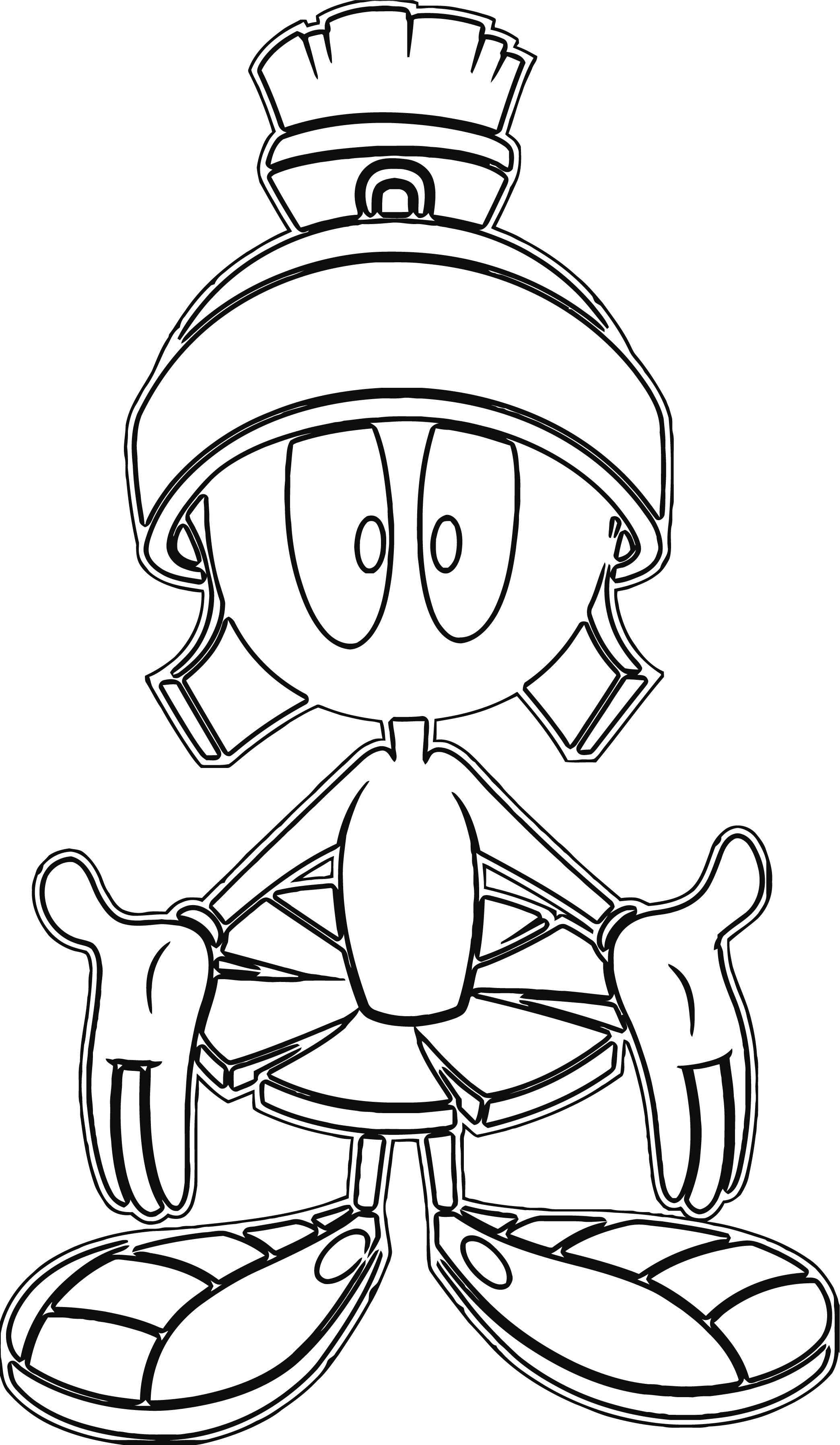 Marvin The Martian The Looney Tunes Show Front View Coloring Page