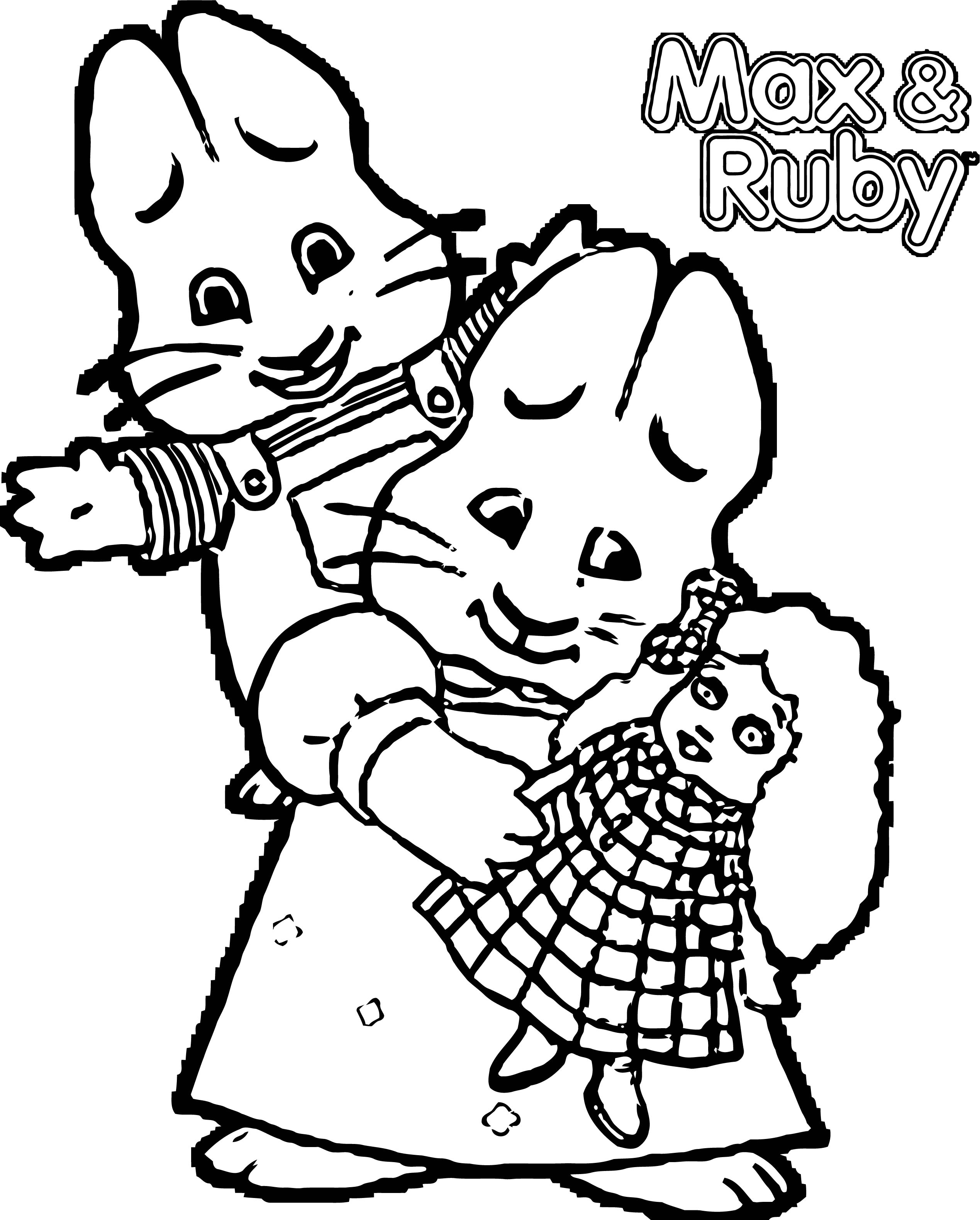 Max And Ruby Baby Girl Toy Coloring Page