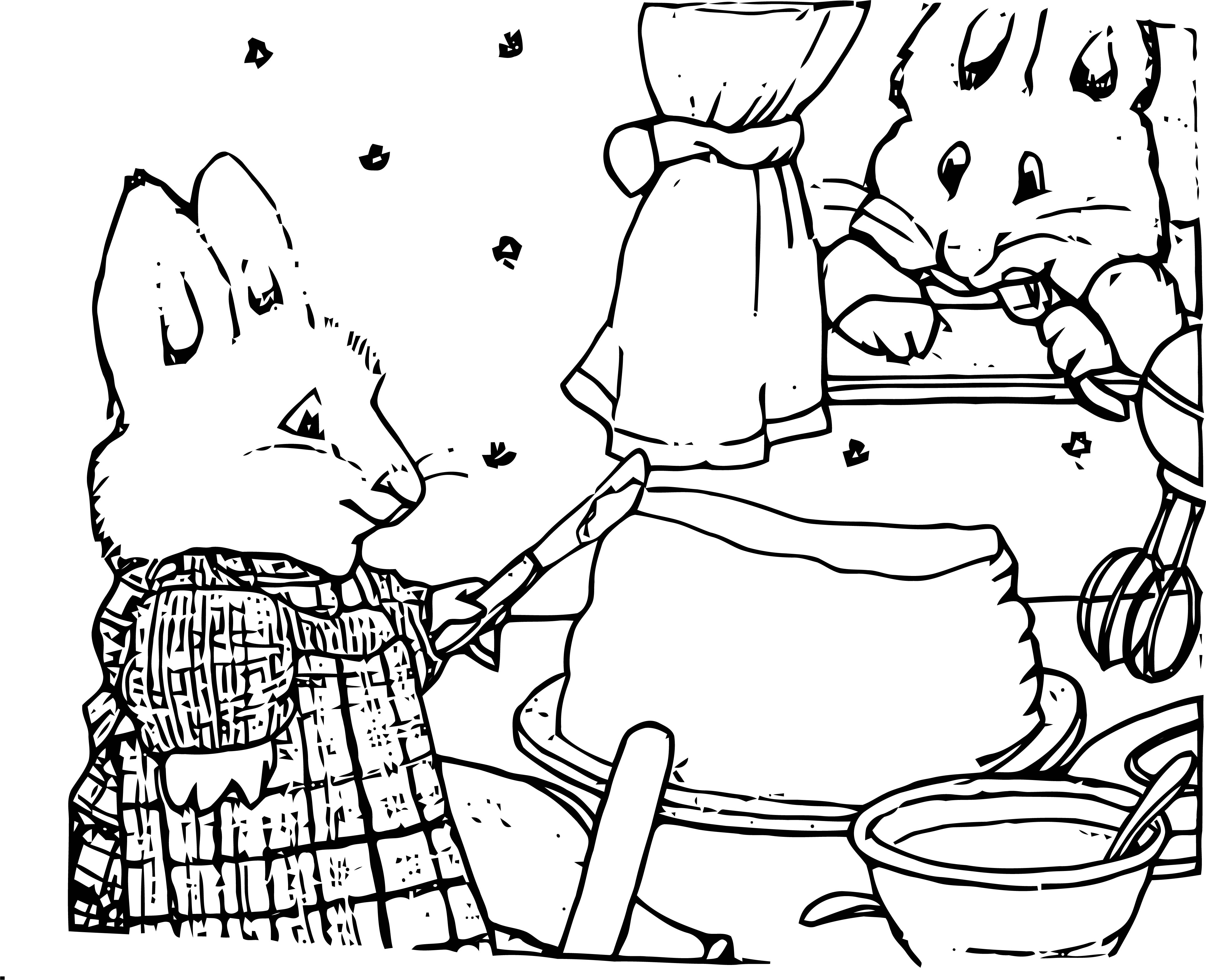 Max And Ruby Butter Coloring Page