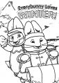 Max And Ruby Everbunny Loves Winter Max And Ruby Coloring Page