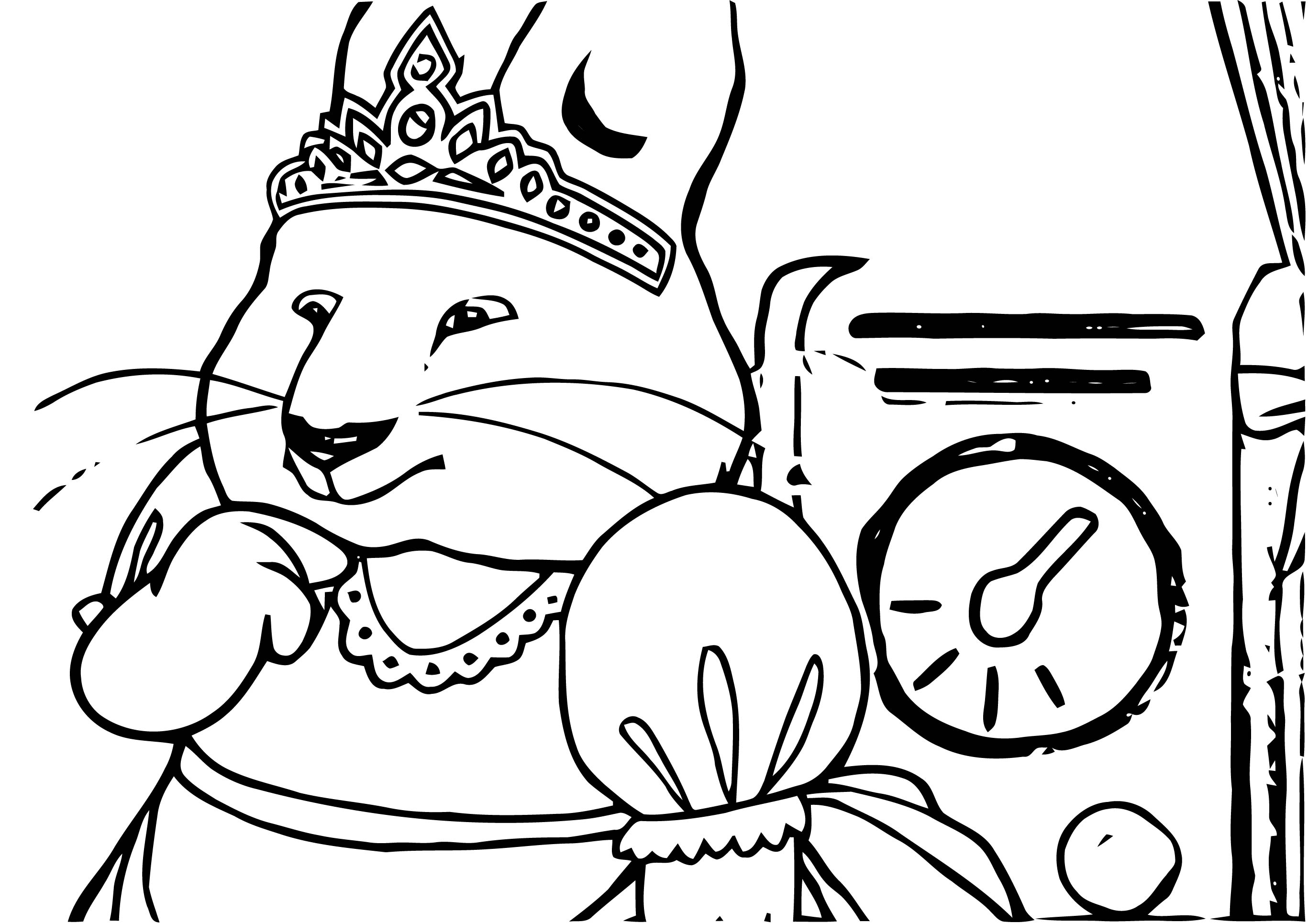 Max And Ruby In Home Thinking Coloring Page