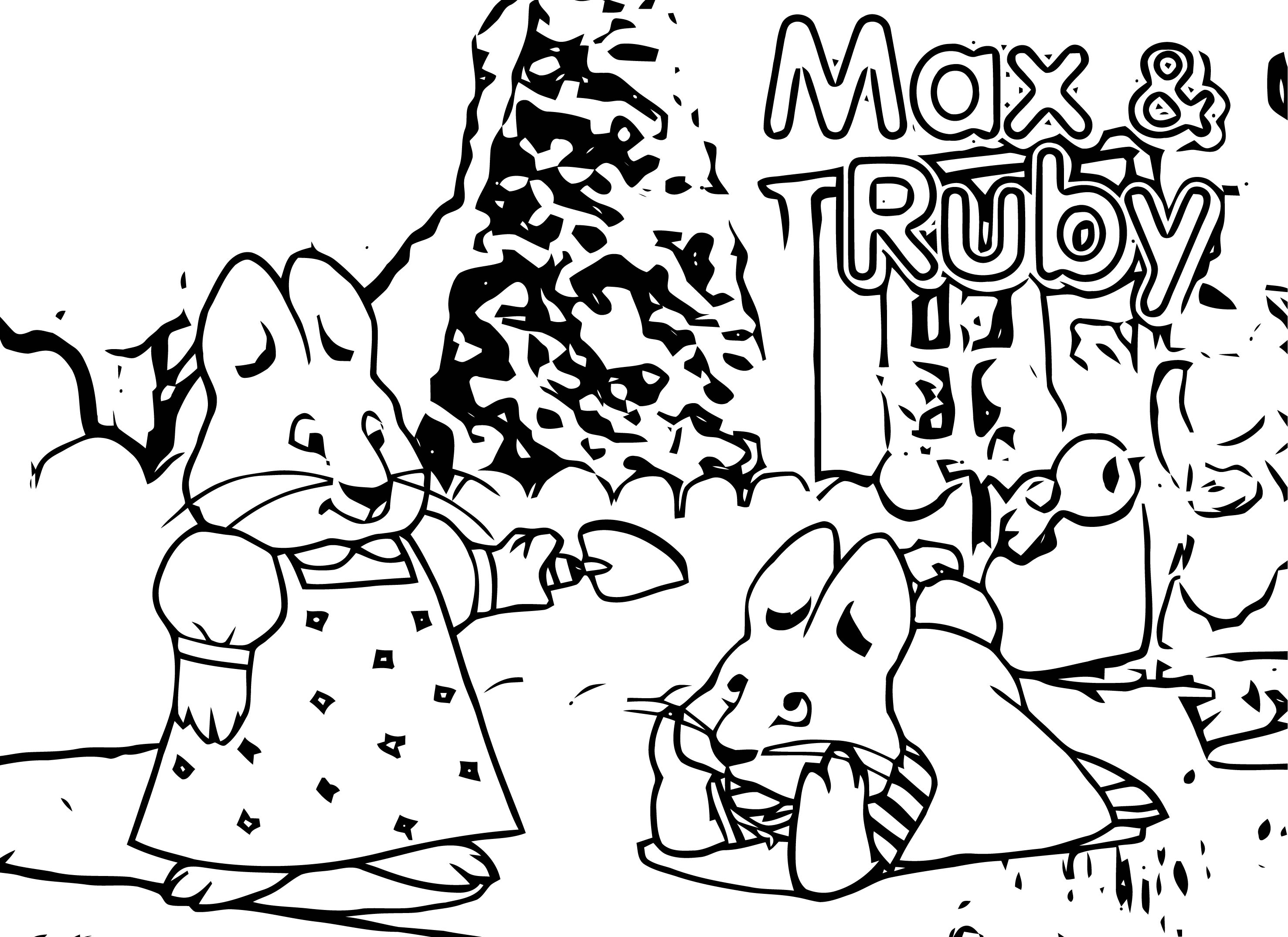 Max And Ruby Listen Coloring Page