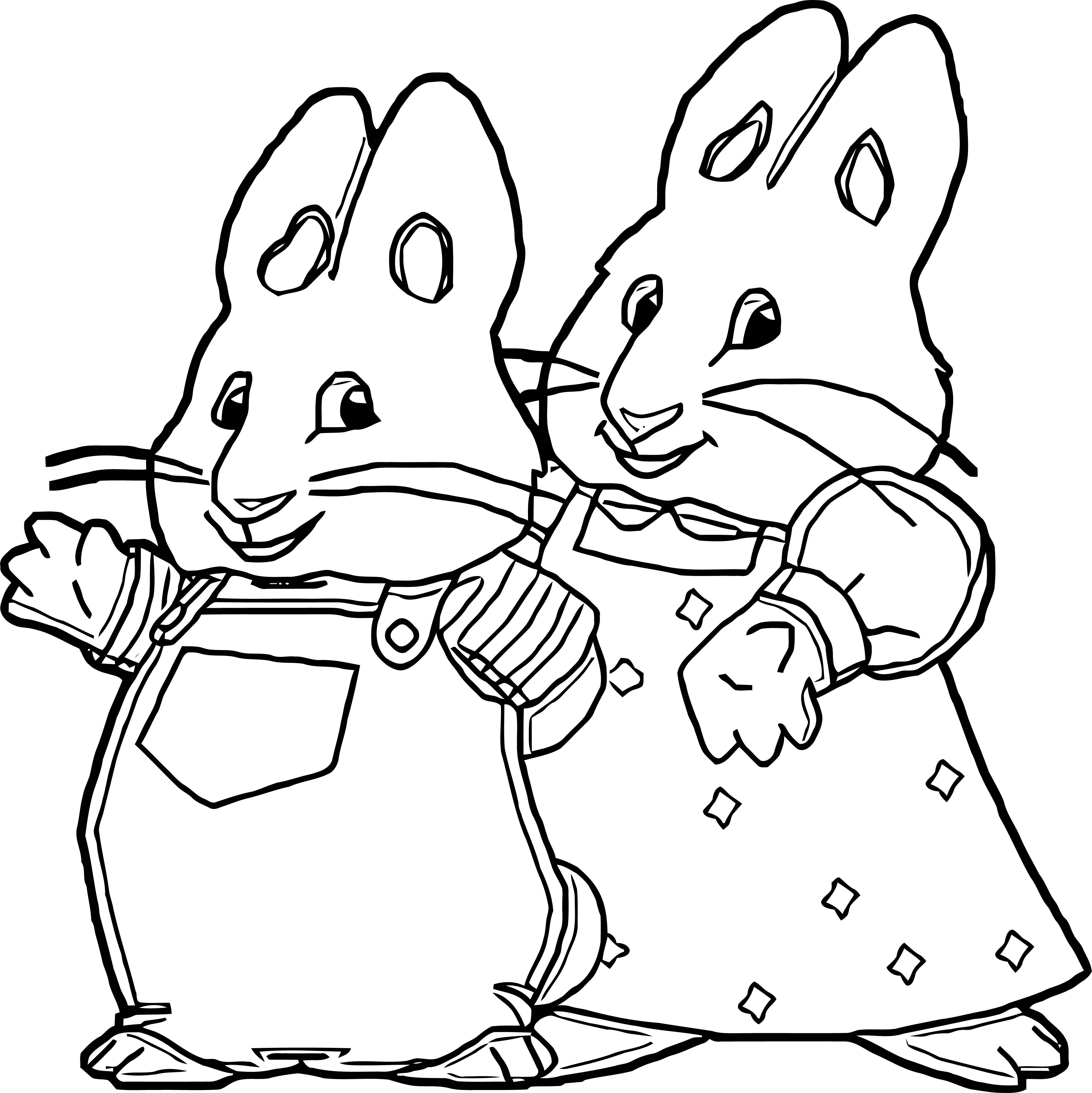 Max And Ruby Molly Ketty Max And Ruby Coloring Page