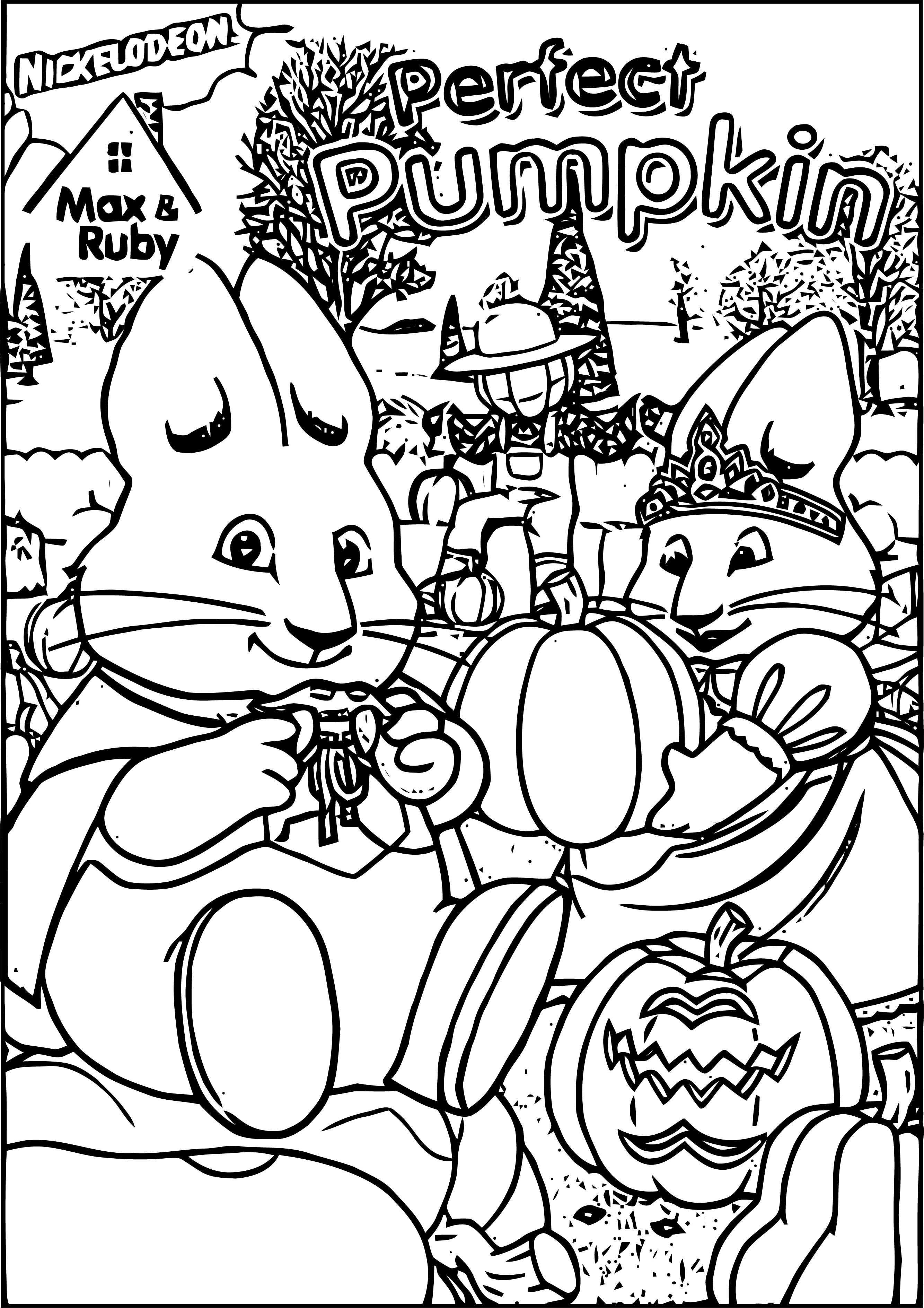 Max And Ruby Perfect Pumpkin Coloring Page