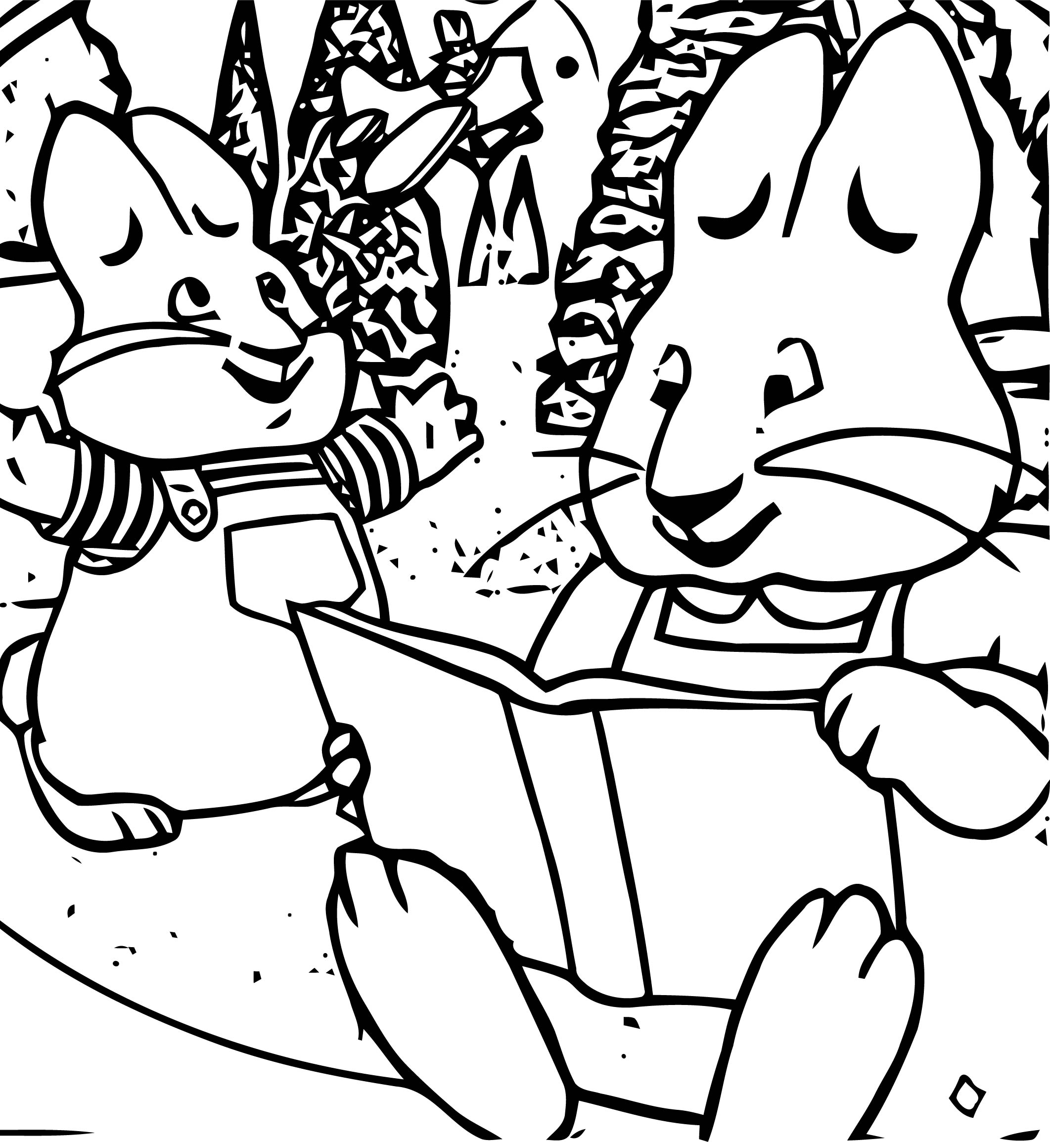 Max And Ruby Playtime Front Cover Coloring Page