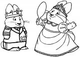 Max And Ruby Quenn Mirror Coloring Page