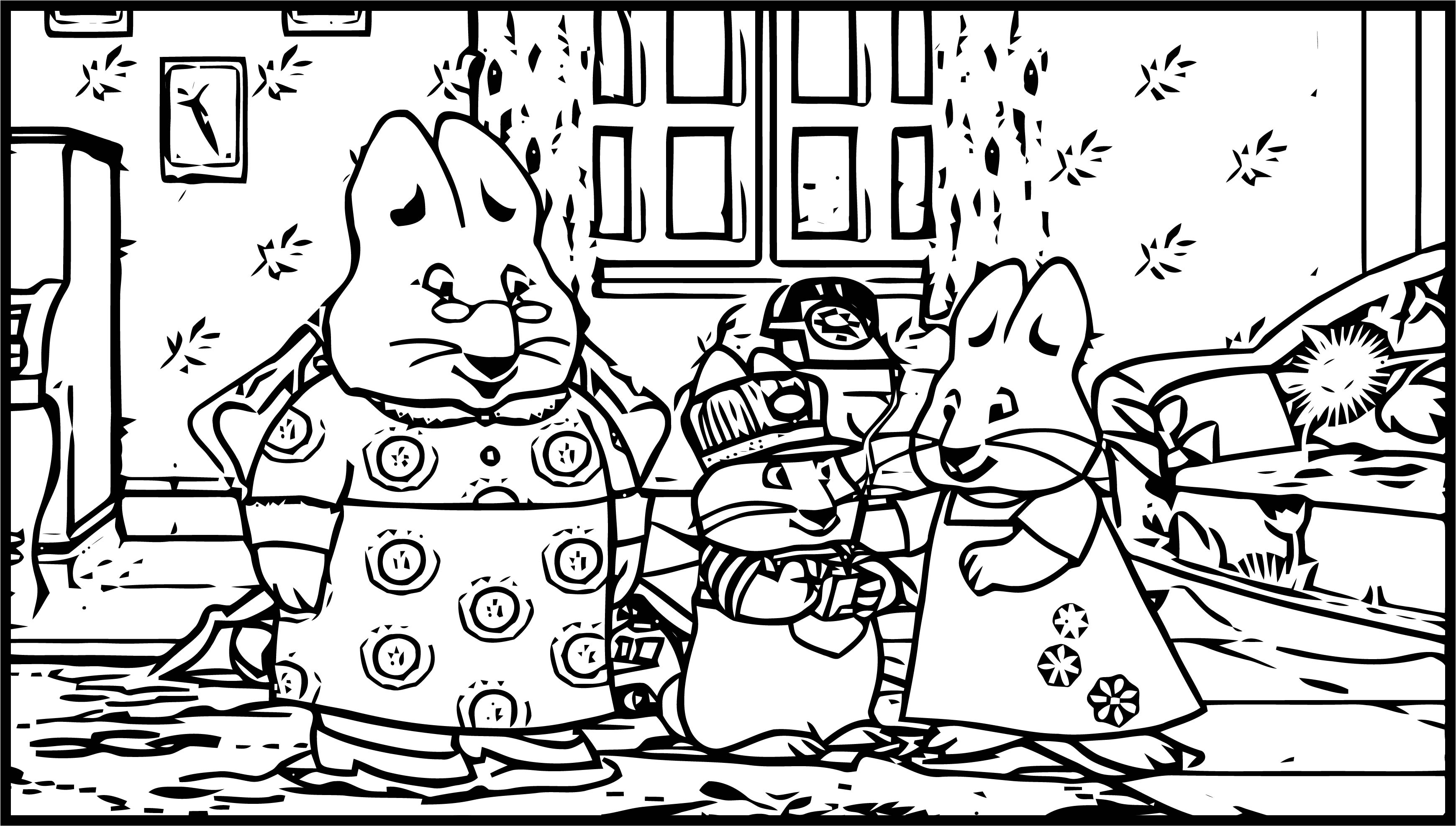 Max And Ruby Room Coloring Page