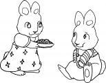 Max And Ruby Snack Time Coloring Page