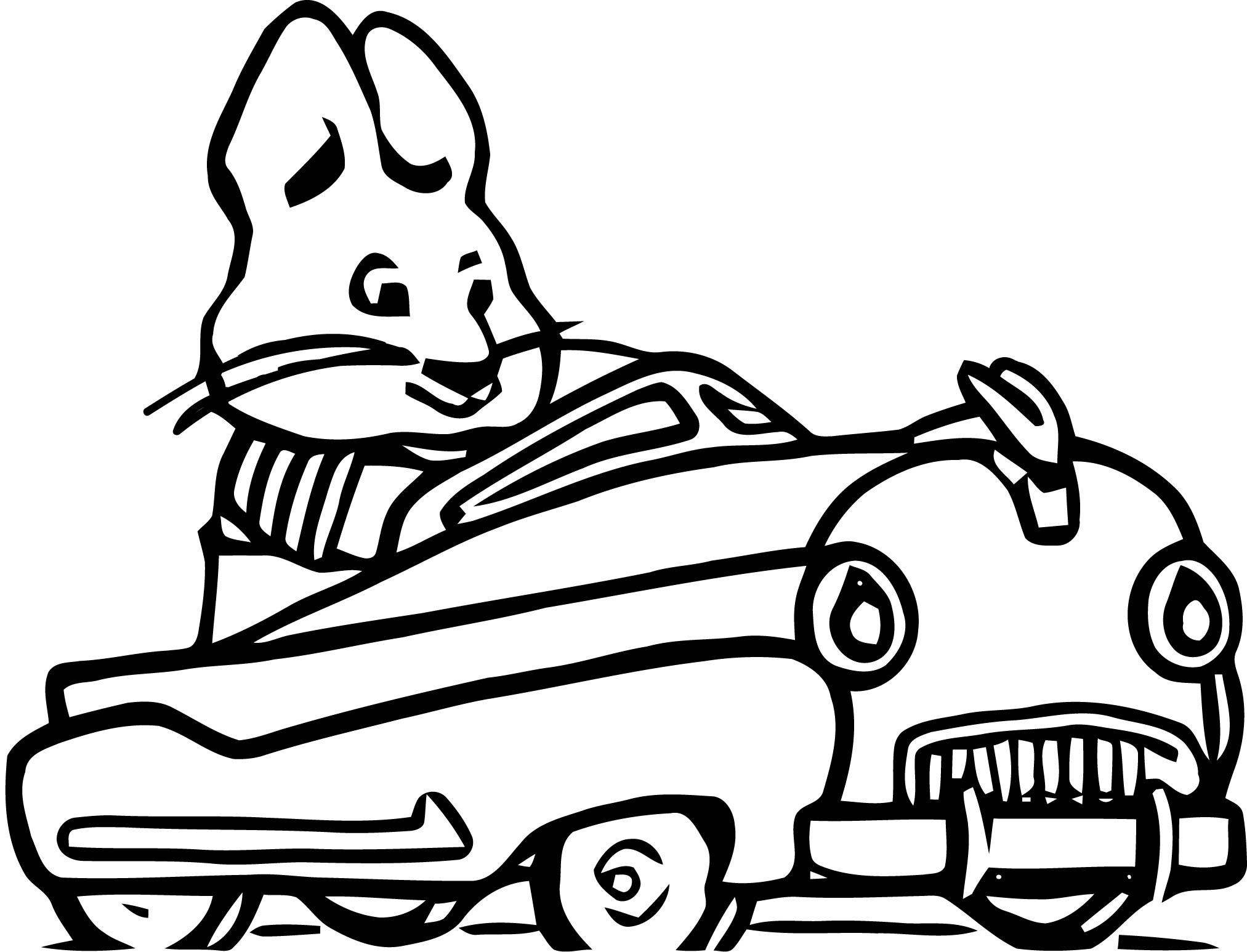Max And Ruby Speedy Max Car Coloring Page