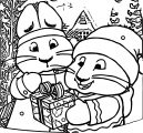 Max And Ruby Winter Chrismas Suprise Coloring Page