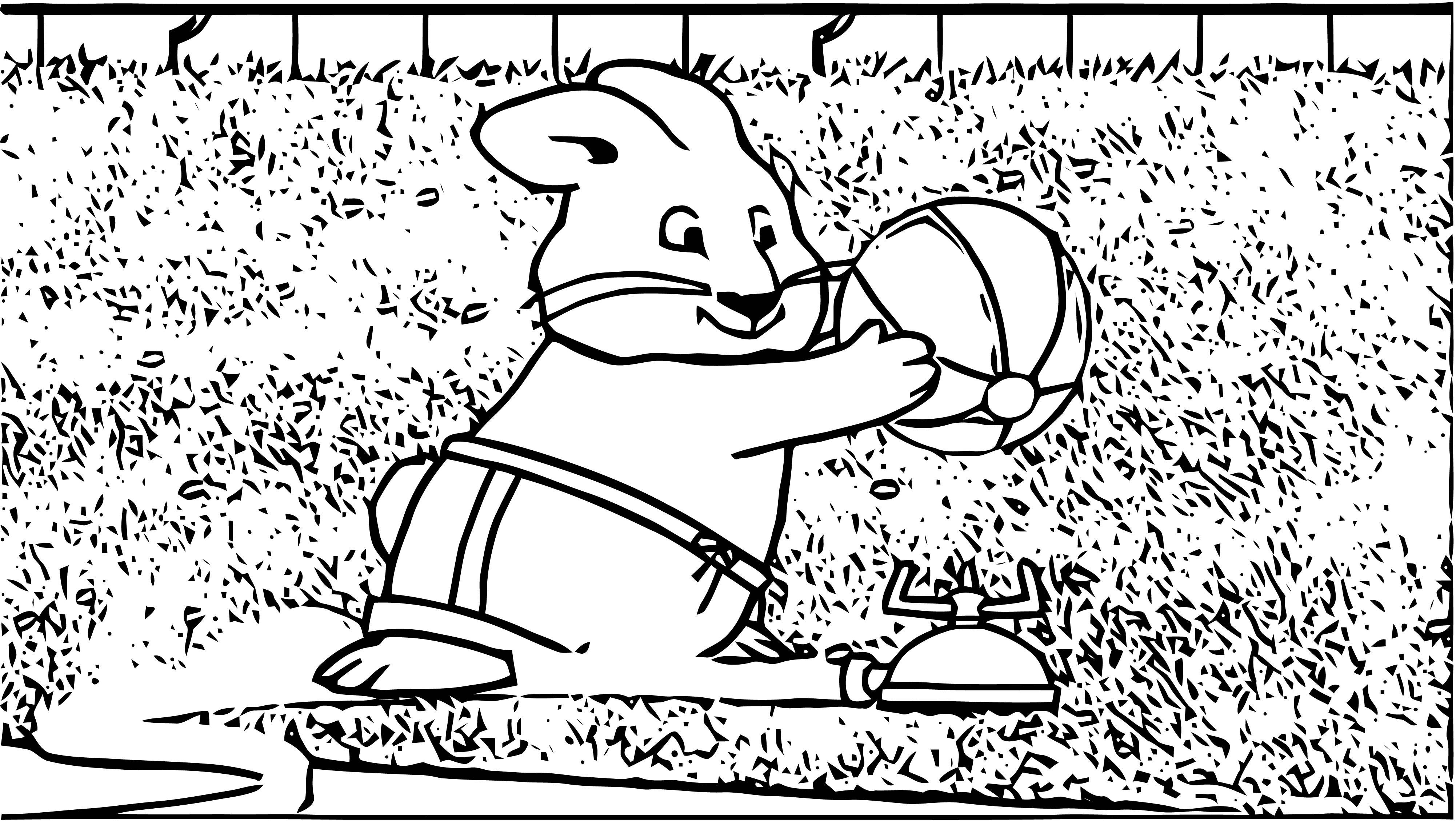 Max Ruby Arroseur Arrose Coloring Page