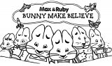 Max Ruby Bunny Make Believe Coloring Page