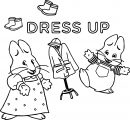 Max Ruby Dress Up Coloring Page