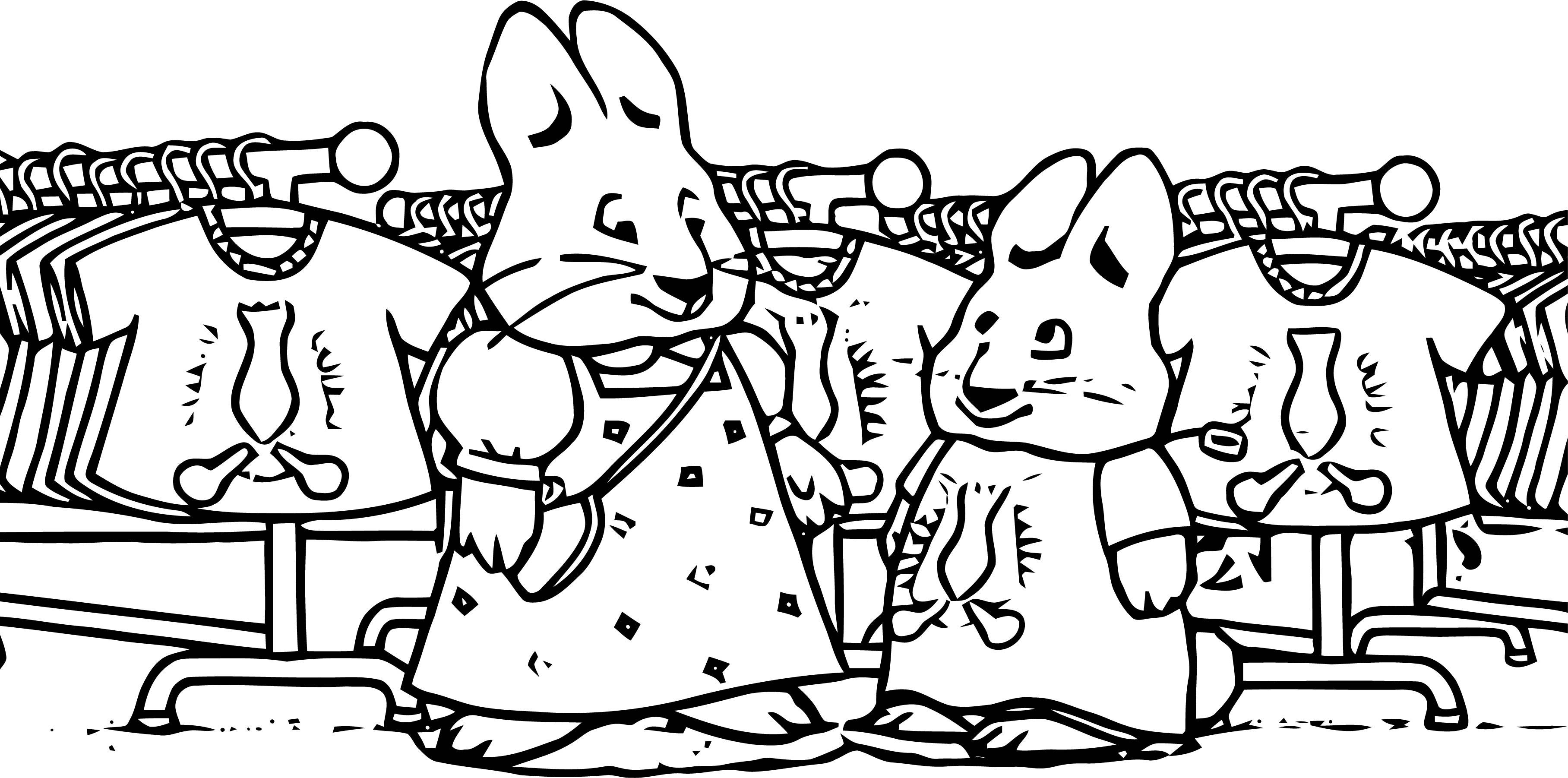 Max Tie Dye Max And Ruby Coloring Page