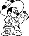 Mickey Mouse Halloween Coloring Page