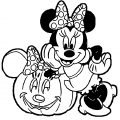 Minnie Mouse Halloween Coloring Page 2