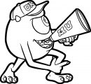 Monster University Mike Mega Phone Coloring Pages