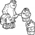 Monster University Mike Sulley Squishy Doncarlton Coloring Pages