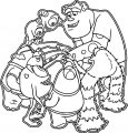 Monsters University Gang Coloring Page
