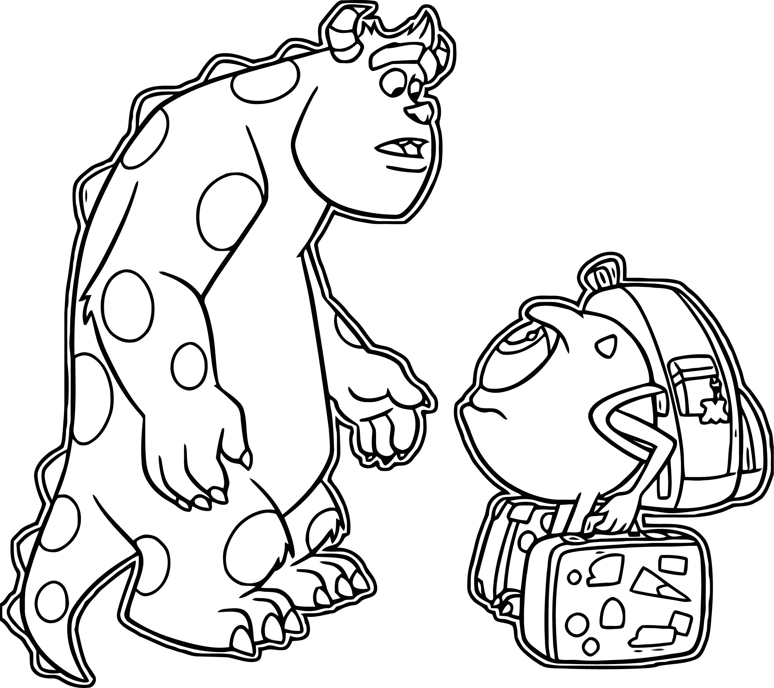 Monsters University Travel Coloring Page
